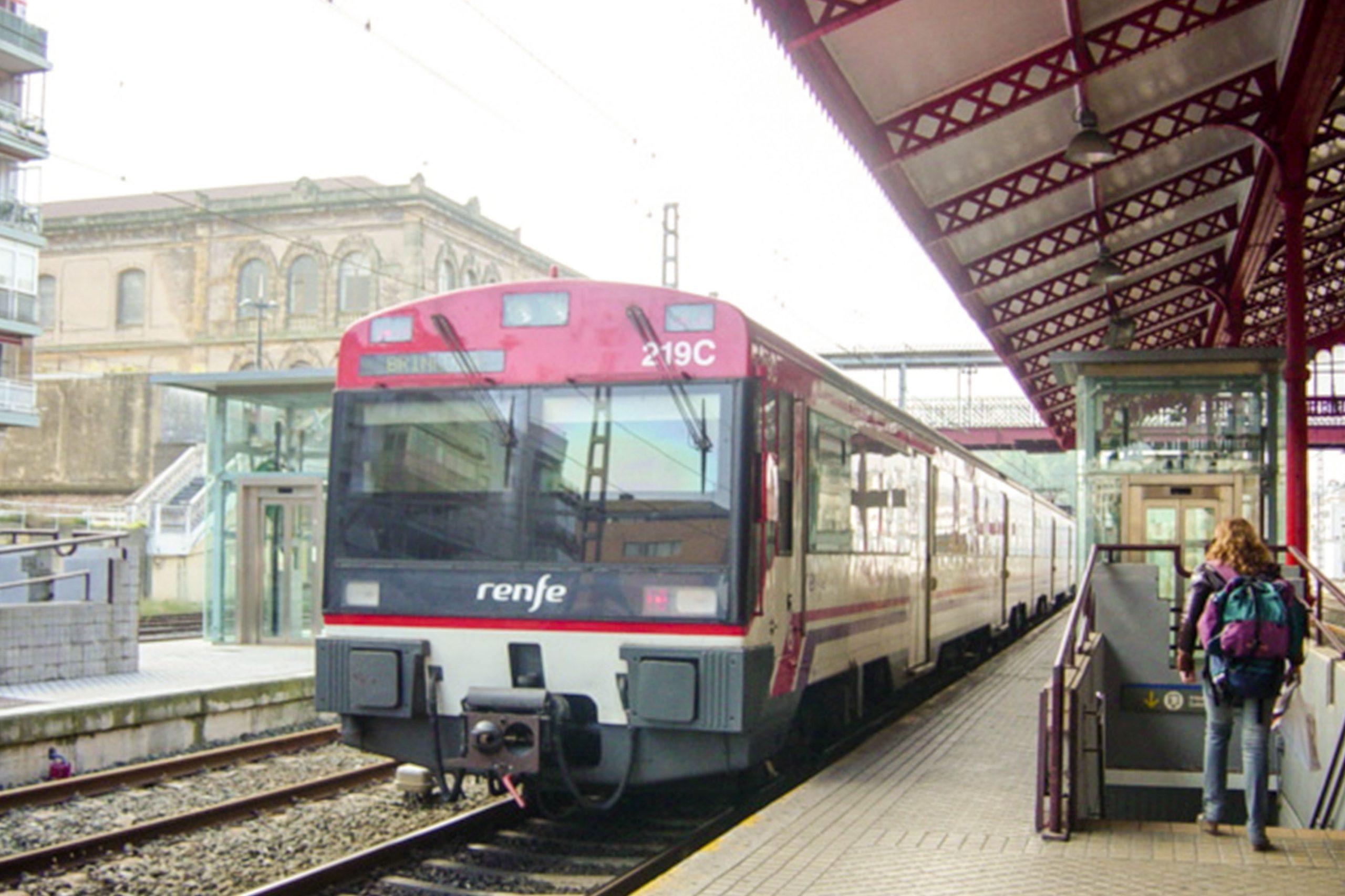 Estación de Tren en Bilbao, España