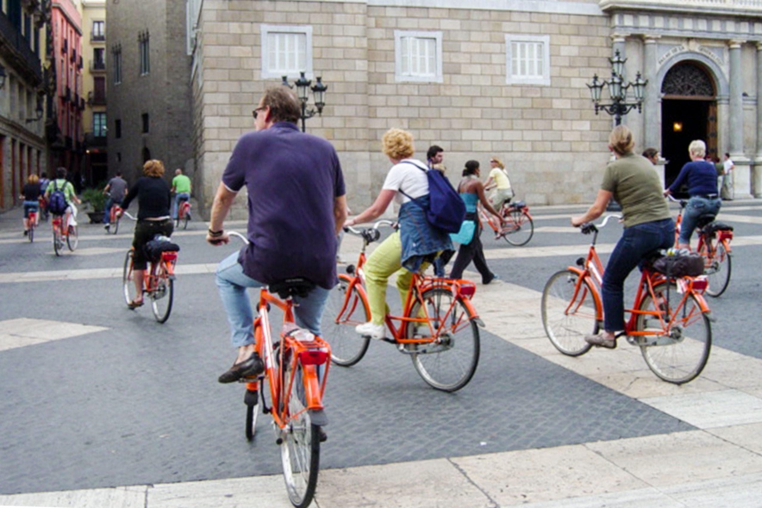 Bicicletas de alquiler en Barcelona, España